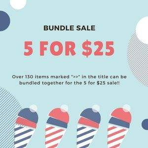 5 FOR $25 SALE!! An item you liked is included!!